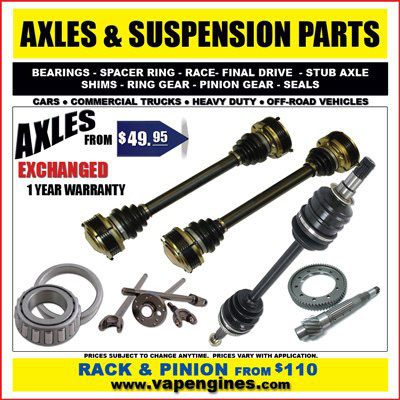 Car Axle and Suspension Auto Parts Store in Los Angeles.