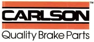 Carlson brake parts for sale