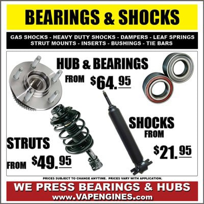 Wheel bearings and Shocks auto part store