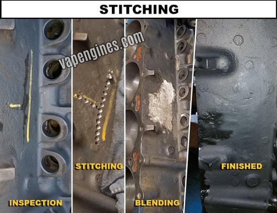 Crack repair stitching- aluminum and cast iron