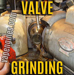 Grind cylinder head valves mating surface