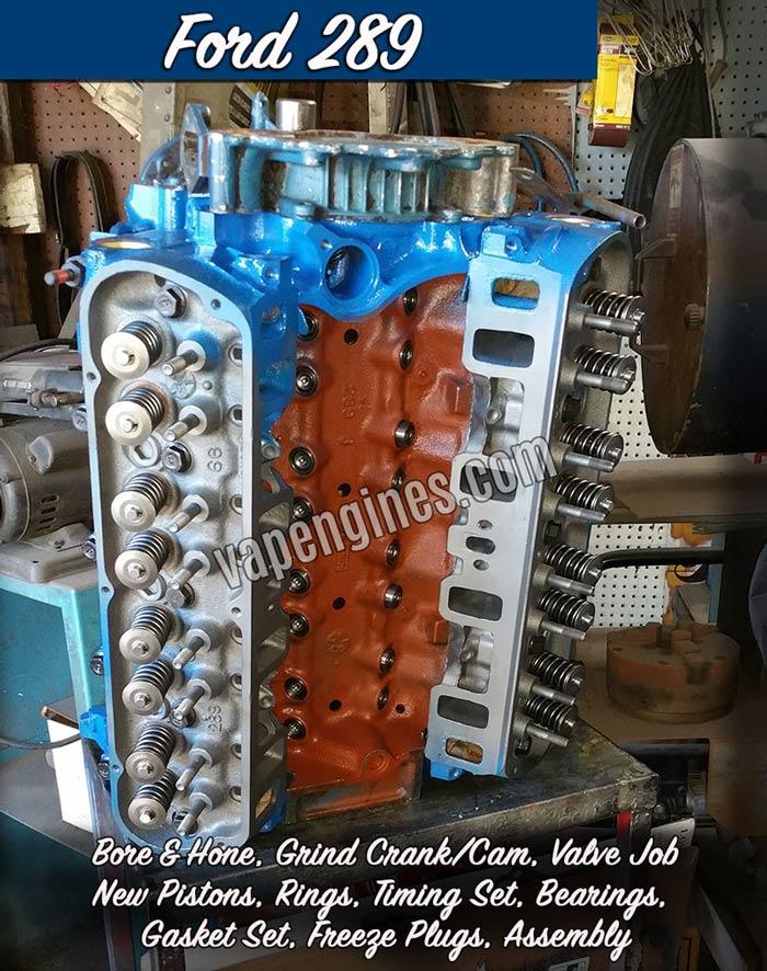 Ford 289 Engine Rebuild Machine Shop Engine Builder Auto