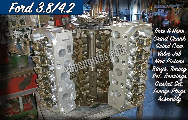 Ford 3 8 4 2 Engine Rebuild Machine Shop Engine Builder