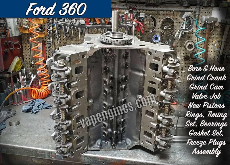 Ford 360 Engine Rebuild Machine Shop Engine Builder Auto
