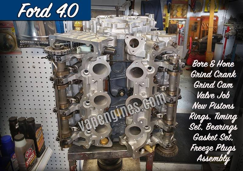 Ford 4 0 Engine Rebuild Machine Shop Engine Builder Auto