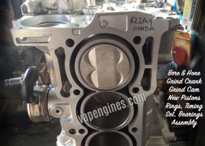 Honda 2.2 H22A4 Engine Rebuild Machine Shop