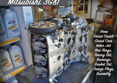 Mitsubishi Minicab 3G81 engine rebuild machine shop