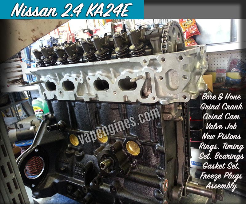 Nissan 2.4 KA24E Engine Rebuild Machine Shop - Engine Builder Auto Machine Shop in Los Angeles