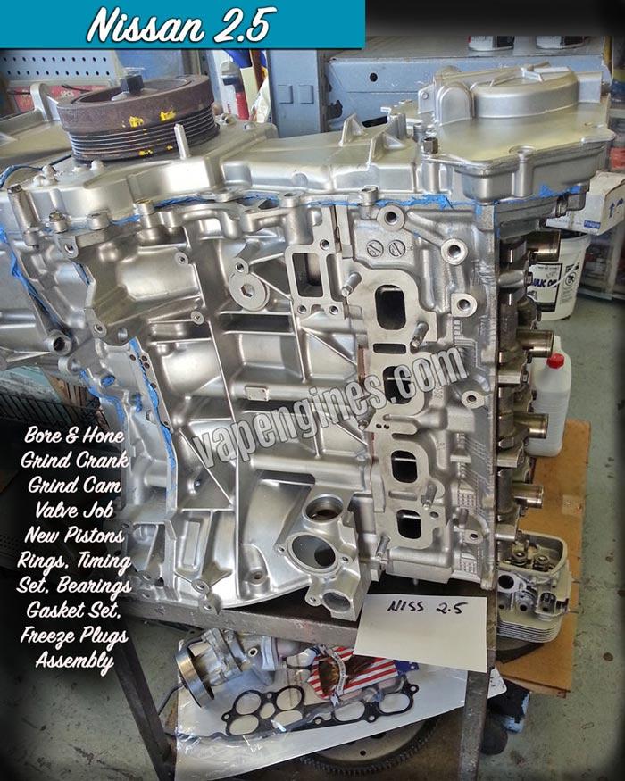 Nissan 2 5 Engine Rebuild Shop Engine Builder Auto