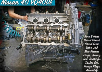 Nissan 4.0 VQ40DE Engine Rebuild Machine Shop