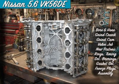 Nissan 5.6 VK56DE Engine Rebuild Machine Shop
