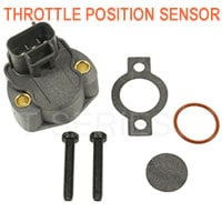 Throttle position sensor for fuel delivery