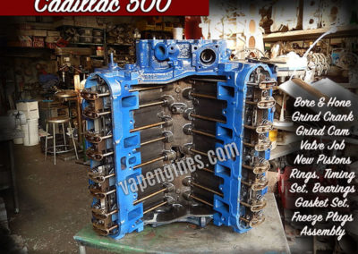 Remanufactured Cadillac 500 engine