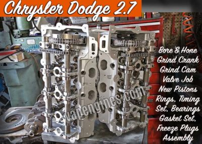 Chrysler Dodge 2.7 Engine Rebuilding
