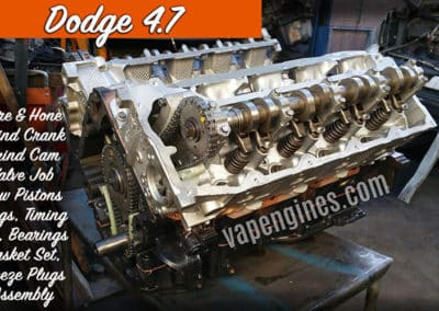 Chrysler Jeep Dodge 4.7 Engine Rebuild shop