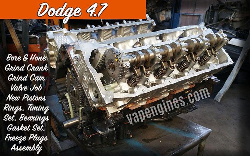 Dodge engine Rebuild photos