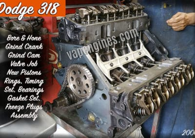 Dodge 318 Engine Rebuild Machine Shop