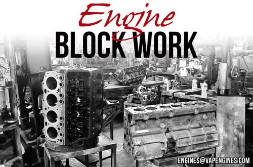 Engine block work repairs