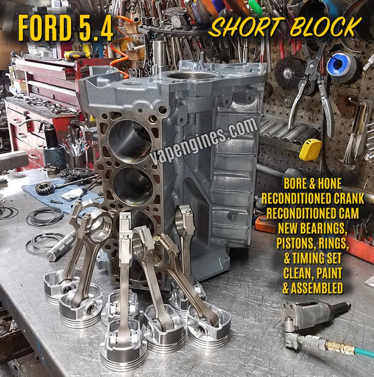 Ford 5.4 Remanufactued Short Block Engine