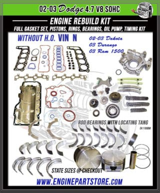 Dodge 4.7 Engine Kits