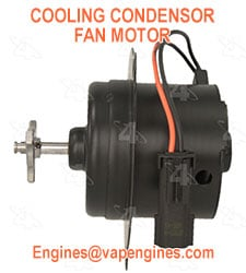Auto cooling condensor fan motors