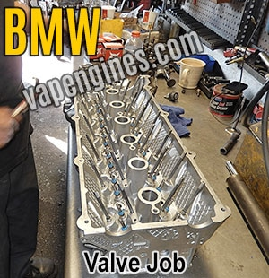 BMW cylinder head Valve Job