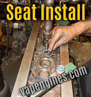 installing new cylinder head valve seats