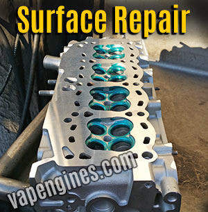 Smooth resurface finish on cylinder head