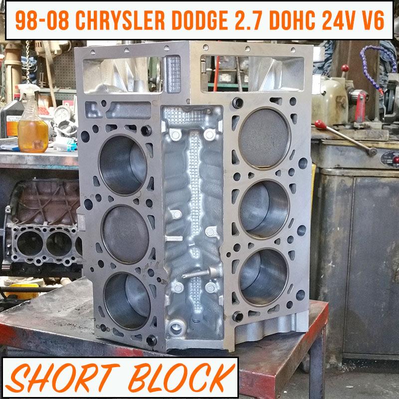 98-08 Chrysler Dodge 2.7 Short Block Engine