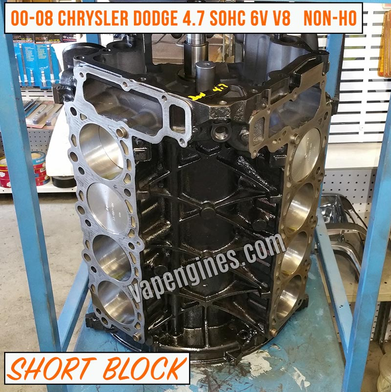 remanufactured jeep dodge 4 7 short block engine for sale