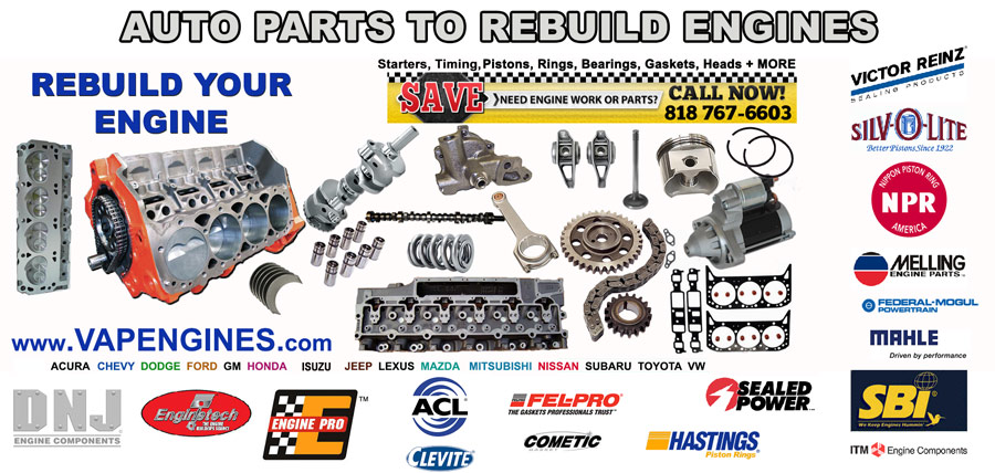 Engine Parts to Rebuild Car Engines | Valley Auto Parts and Engines
