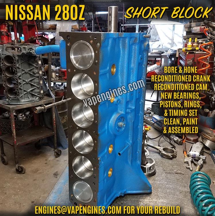 Nissan Datsun 280Z Remanufactured Short Block Engine