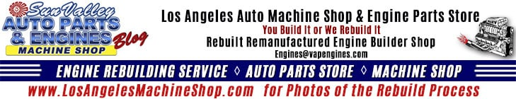 Los Angeles Machine Shop banner- engine rebuild photos