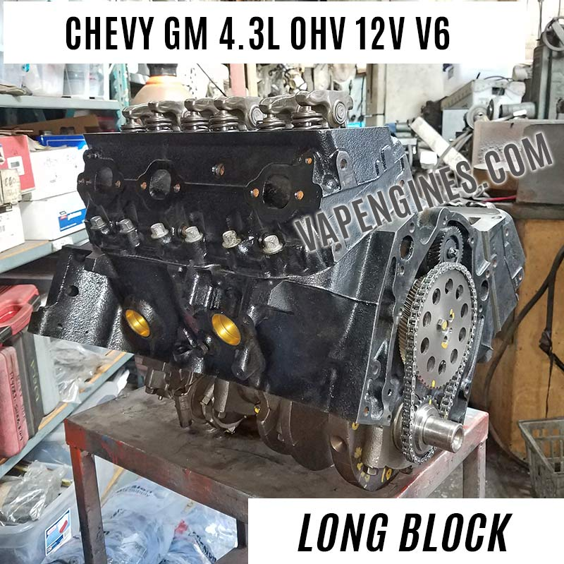 remanufactured chevy gm 4 3 engine for sale vapengines. Black Bedroom Furniture Sets. Home Design Ideas