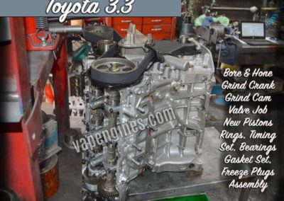 Toyota 3.3 3MZFE Engine Rebuild Shop