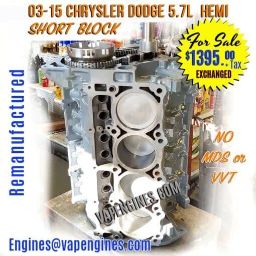 Engine Dodge 5.7 Short Block
