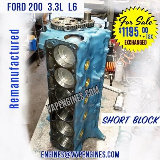 Ford 200 Engine Short Block for Sale
