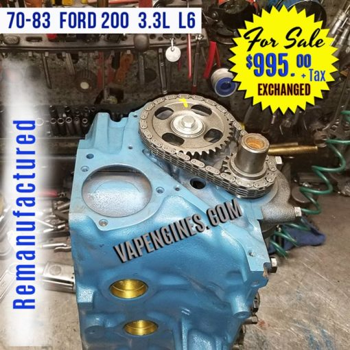 Ford 200 Short Block Engine for sale