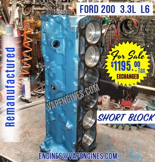 Ford 200 Short Block for Sale