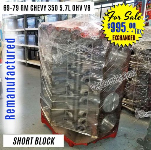 For Sale- GM Chevy 350 Short Block Engine