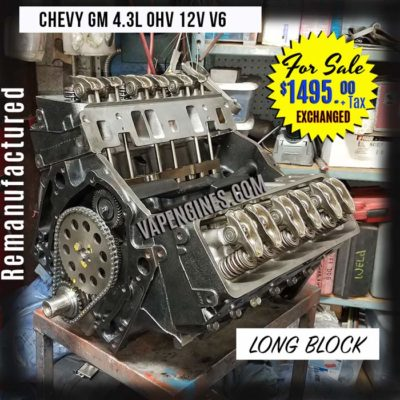 Chevy GM 4.3 Rebuilt Engine for sale