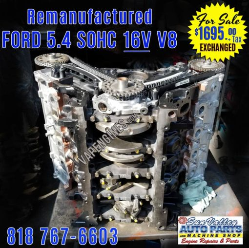 Remanufactured Ford 5.4L 16V Engine for Sale. Crank view