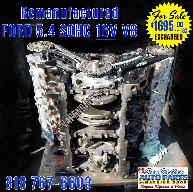 remanufactured 97 06 ford 5 4 16v v8 engine 2v for sale for sale. Black Bedroom Furniture Sets. Home Design Ideas