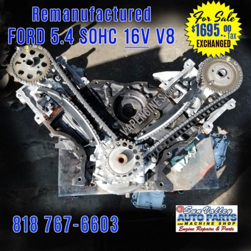 Remanufactured Ford 5.4L 16V Engine for Sale. Timing view