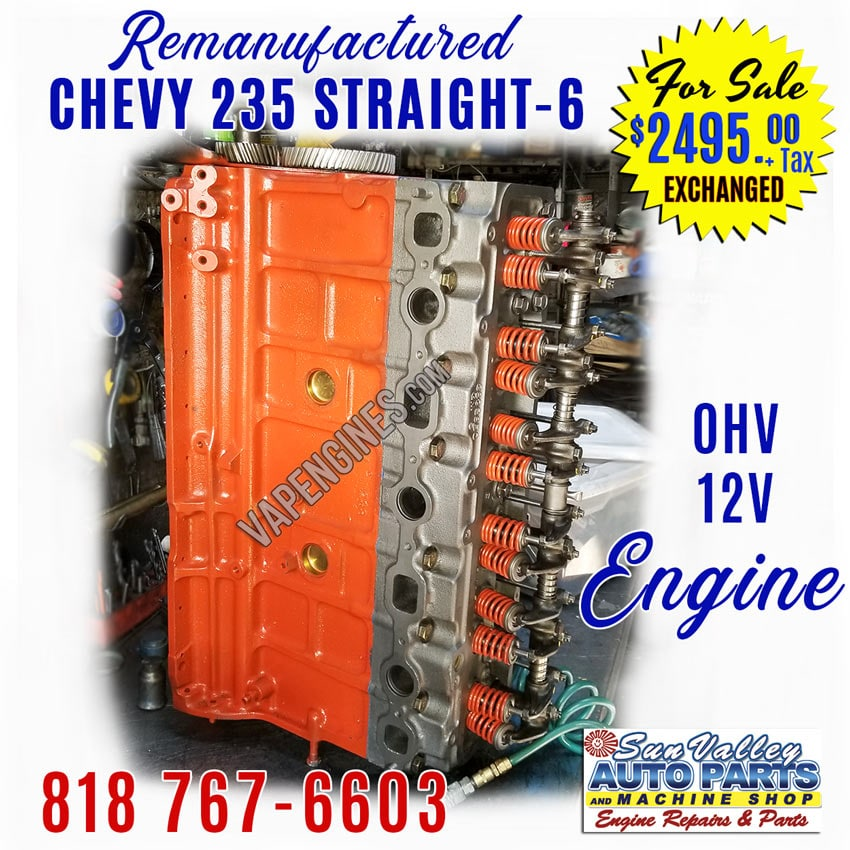Remanufactured GM Chevy 235 Engines for Sale