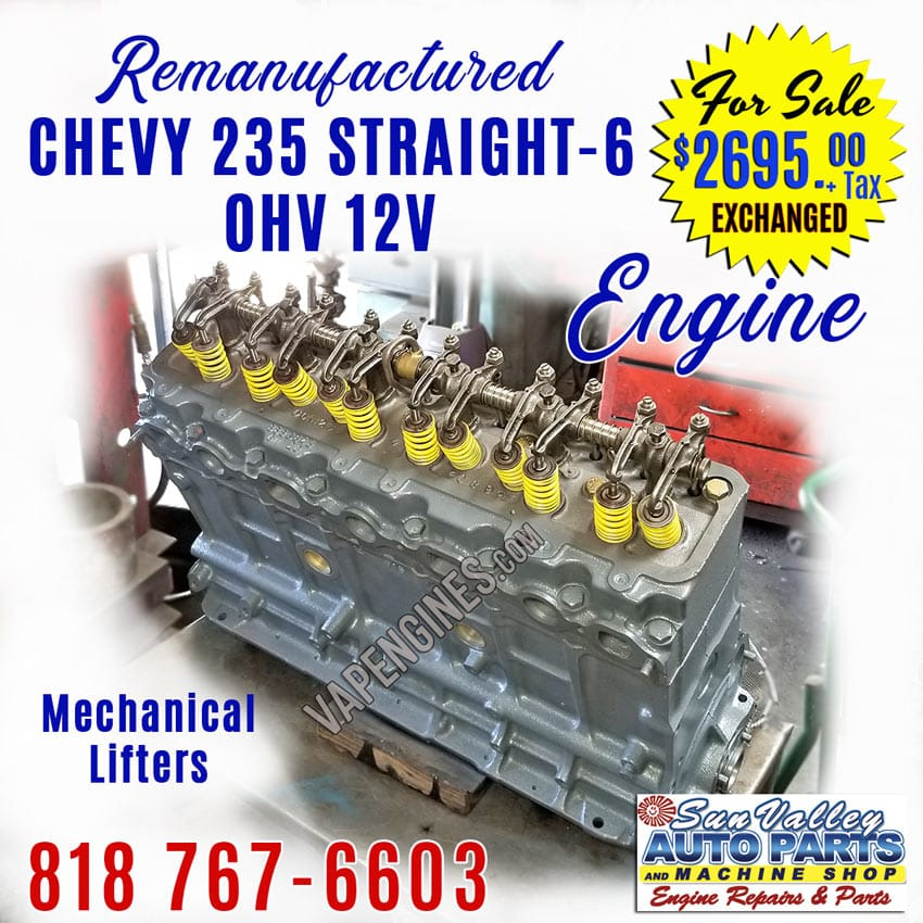 Remanufactured Chevy 235 Engine Sale
