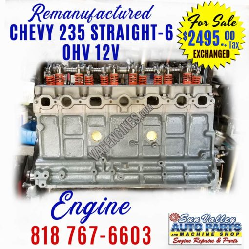 Remanufactured Chevy GM 235 Inline6 Engine for sale