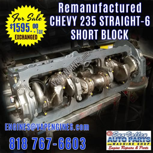 Chevy 235 Engine short Block