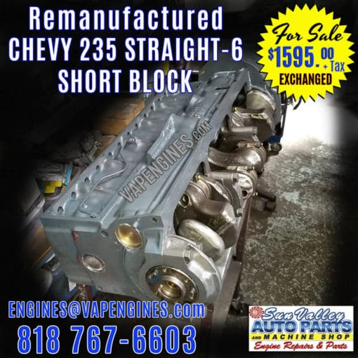 Chevy 235 Short Block for sale