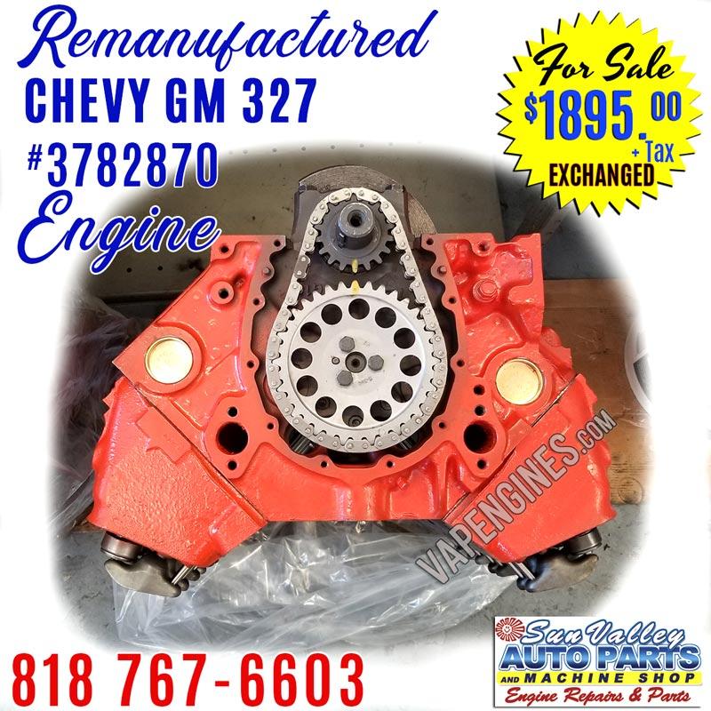 remanufactured gm chevy 327 engine for sale 3782870. Black Bedroom Furniture Sets. Home Design Ideas